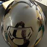 vue au dessus du casque moto Shoei GT Air