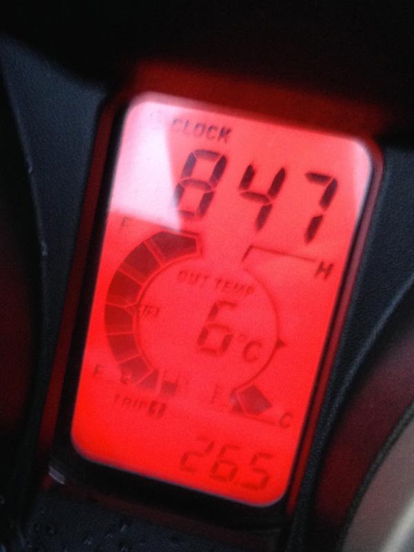 il fait froid en hiver à moto