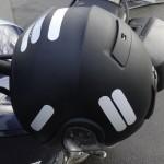 casque neotec shoei avec bande blanche