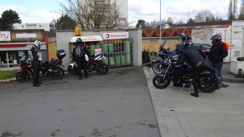 départ balade moto de Rennes (Bretagne)