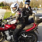 fin de balade moto à Rennes