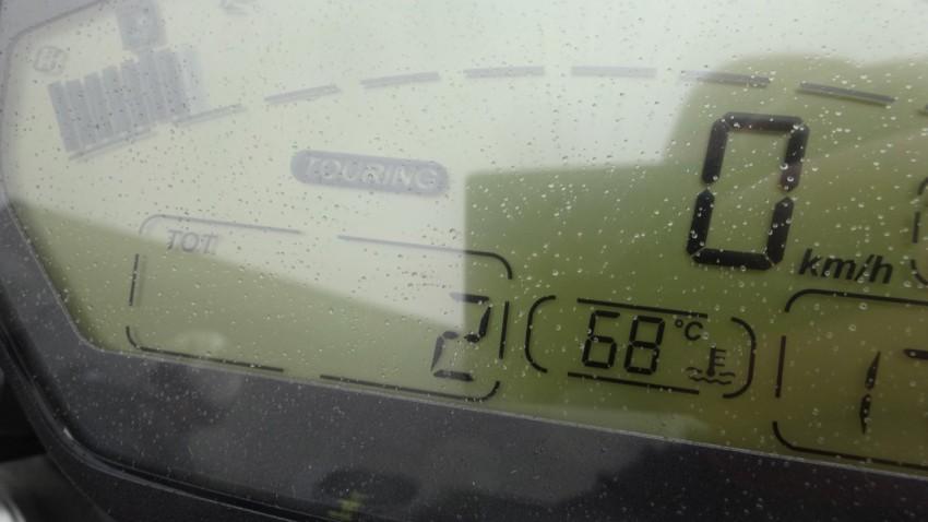 Tableau de bord du Ducati 821