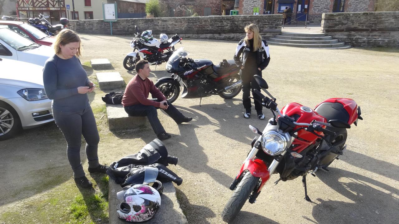 pause motarde à Pont-Réan, au coeur de la Bretagne