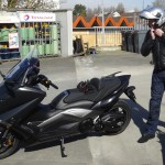 Laurent sur son Yamaha TMax Iron