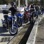 groupe de motard au départ de Rennes