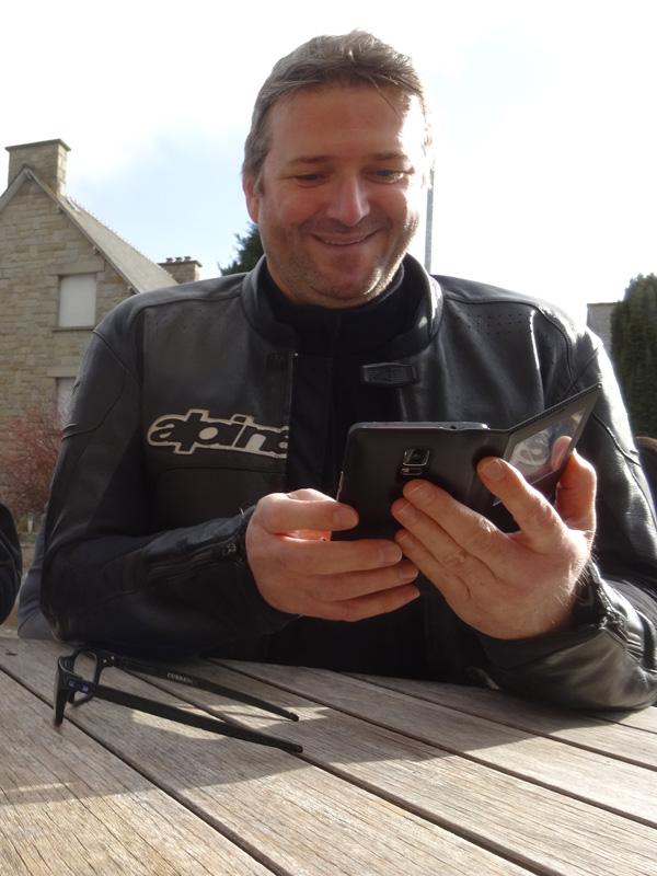 Laurent, motard yamaha de lorient