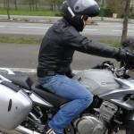 Eric sur sa moto, motard Rennais