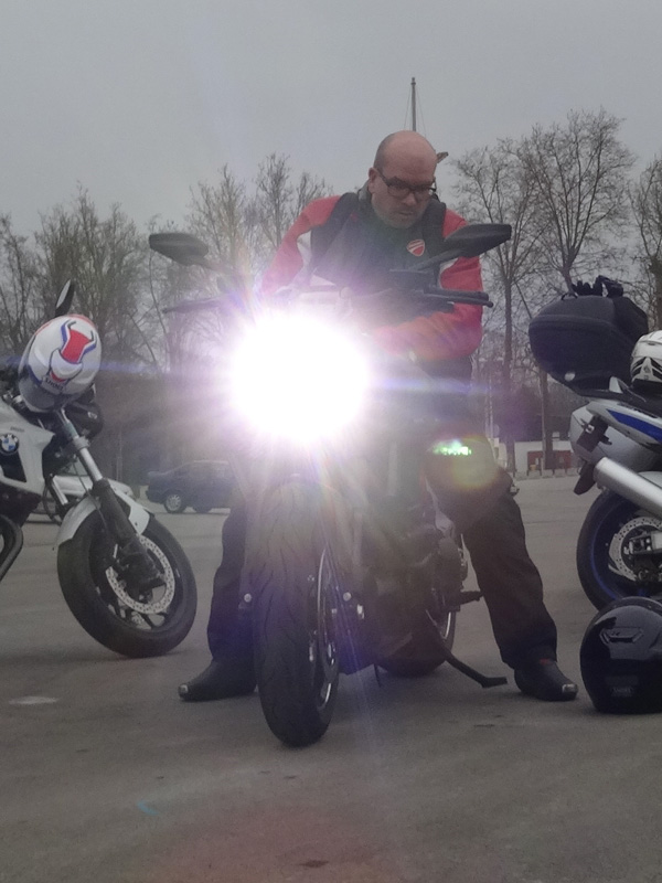 david jazt sur une moto Ducati