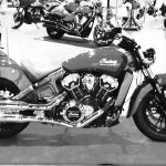 indian scout en noir et blanc
