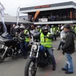 départ en groupe aux portes ouvertes chez Harley Davidson Rennes