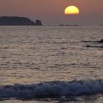 soleil se couche à Saint-Malo