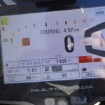 tableau de bord du Multistrada 1200 S en TFT