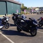 moto au départ de la balade du 19 avril