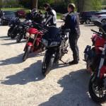 groupe de motard à Dol de Bretagne (Domaine des Ormes)