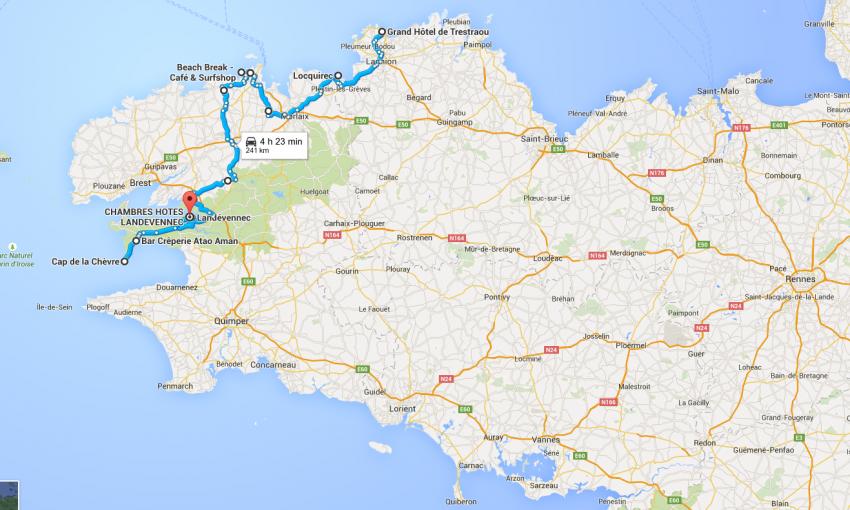 Roadbook balade moto en Bretagne