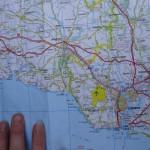carte routière Bretagne