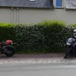 pause moto à Plélan le grand