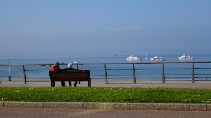 vue mer depuis Perros Guirec