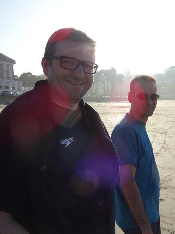 Laurent et Jean-Claude à Perros Guirec