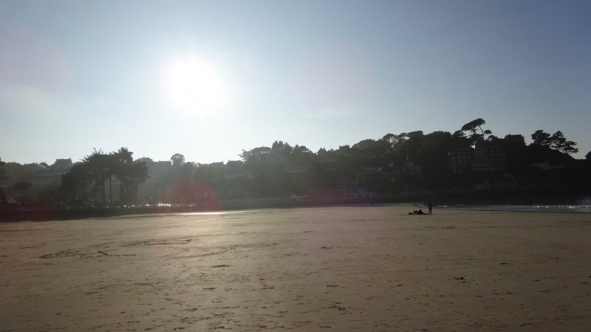 balade sur la plage de Perros Guirec