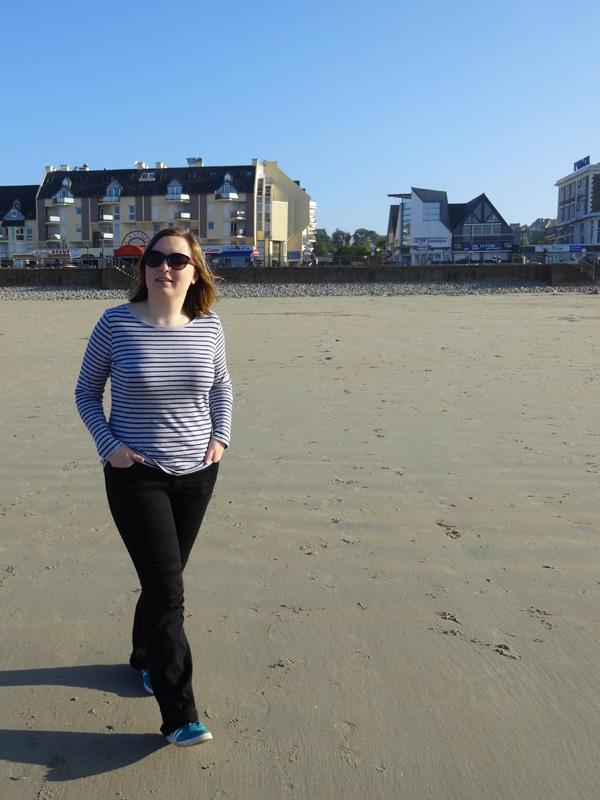 Mamzelle Laura à Perros Guirec sur la plage de sable fin