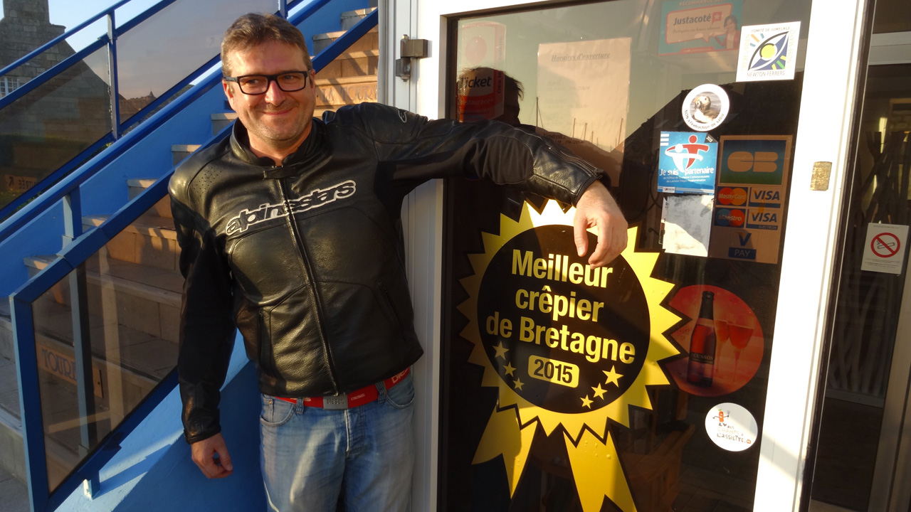 Laurent et la meilleure crêperie de Bretagne 2015