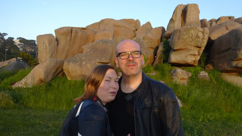 David et Laura à Trebeurden