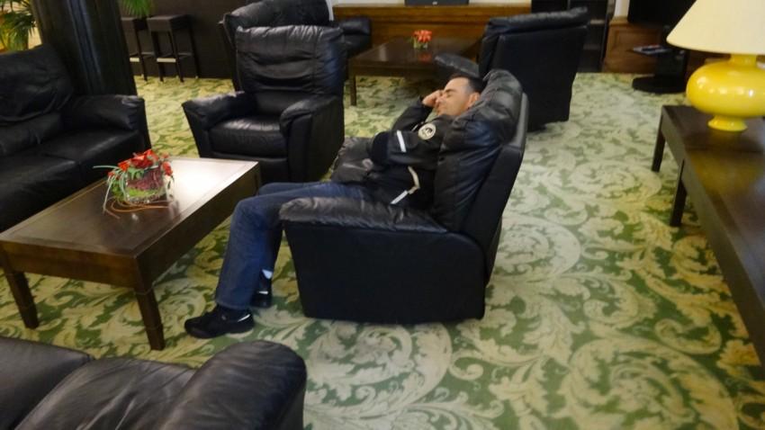 le motard Rennais est fatigué de sa journée