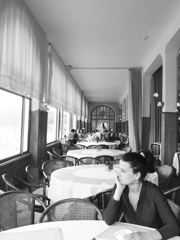 Grand Hôtel de Perros Guirec : petit déjeuner vue mer