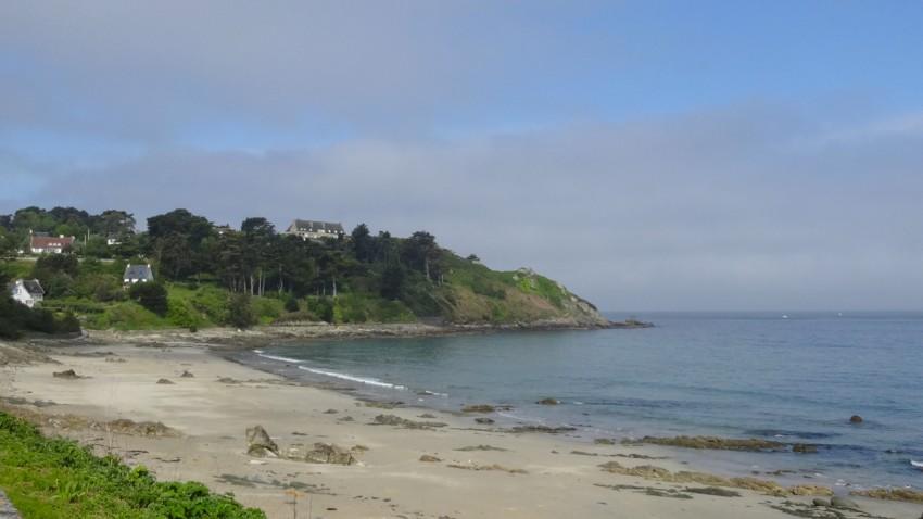 plage de sable fin en Bretagne