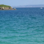 mer turquoise en Bretagne