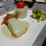 plat principal : saumon brocoli