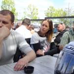 Mathieu, Agnès et frédéric à Concarneau