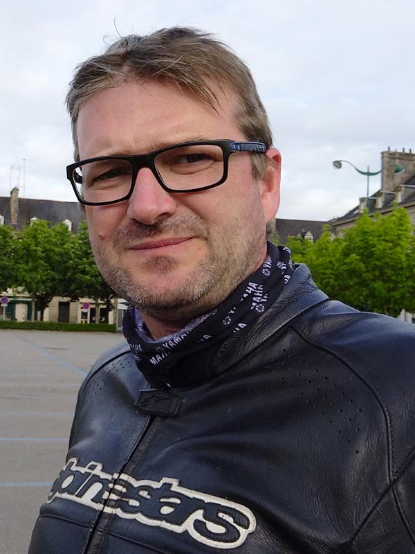 Laurent, motard Rennes en Honda