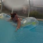 baignade en piscine privée et chauffée couverte à Fouesnant
