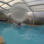 baignade en piscine privée et chauffée à Fouesnant