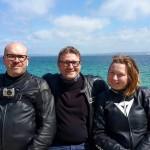 David Jazt, Laurent et Melle Laura face à la Thalasso de Douarnenez