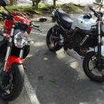 Ducati 821 Monster et FZ6 N S2