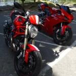 Ducati Monster 1100 Evo et Ducati 1098