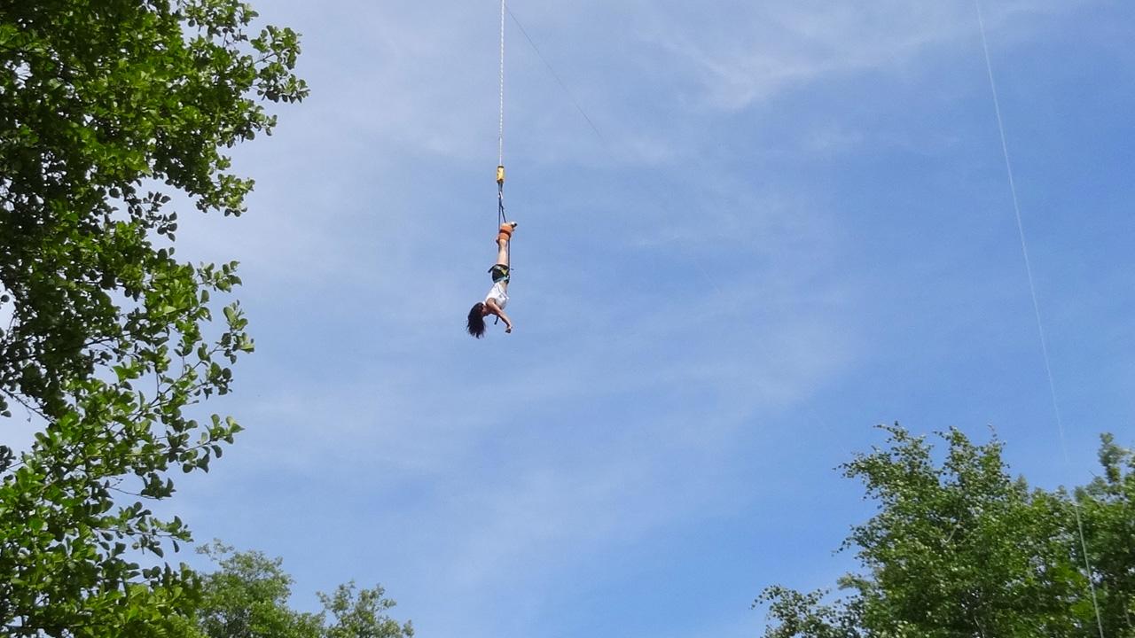 saut à l'élastique à Souleuvre