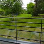 vue du balcon côté jardin
