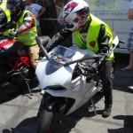 Ducati Panigale 899 pour une jeune motarde