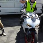 Mamzelle Laura de Rennes en Ducati 899 Panigale
