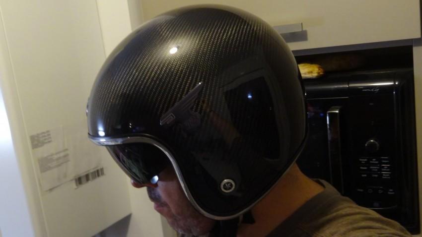 casque moto jet en carbone super léger