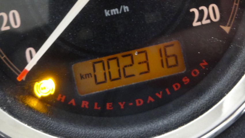 2316km au tableau de bord du Street Bob