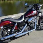 david jazt roule en Harley Davidson