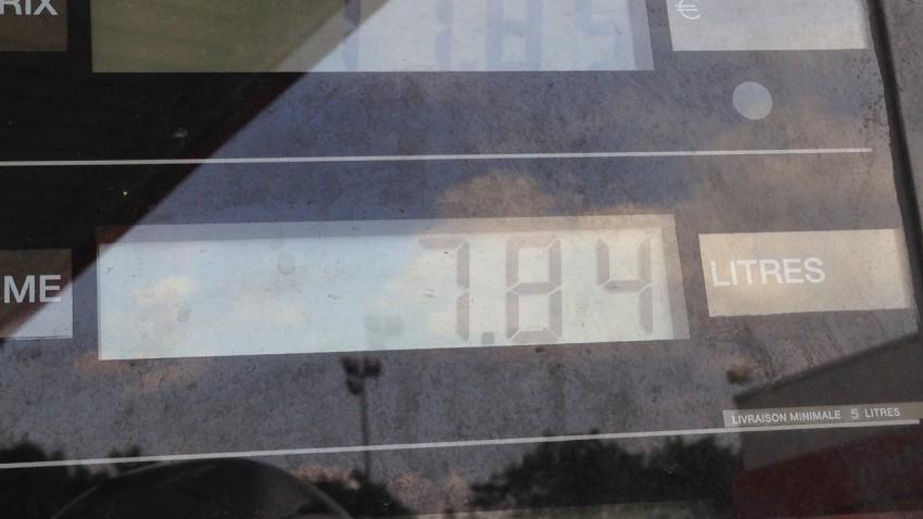 7,84 litres pour 300km