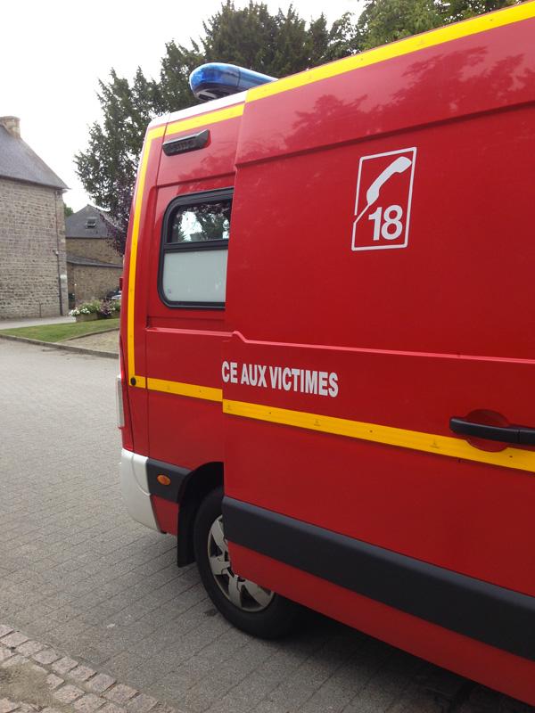 Appel des pompiers au 18