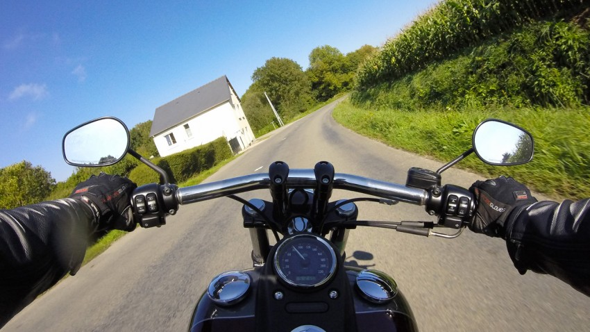 Harley Davidson riding