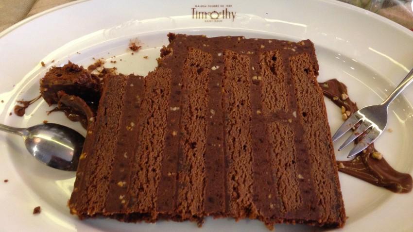restaurant timothy de Saint-Malo et ses gâteaux